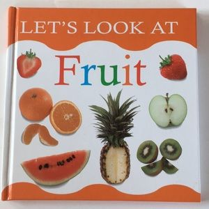 "🌺 ""Let's Look at Fruits"" hardcover book"